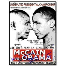 "Mr. Brainwash ""Obama Vs. McCain"" Signed Screen Print"