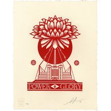 "Obey Giant ""Power Glory"" Signed Letterpress"