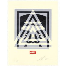 "Obey Giant ""Pyramid Top Icon"" Signed Letterpress"