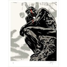 """Kinsey """"Assassination-Silver"""" Signed Screen Print"""