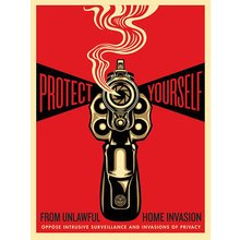 "Obey Giant ""Home Invasion - Red"" Signed Screen Print"