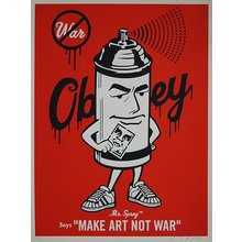 """Obey Giant """"Mr. Spray"""" Signed Screen Print"""