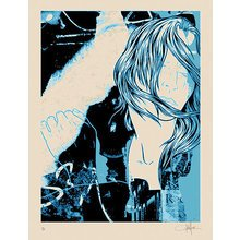 "Kinsey ""Year Of The Woman-Blue"" Signed Screen Print"