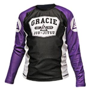 Purple Long Sleeve Gracie Rashguard (Kids)