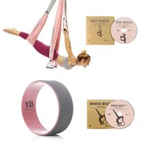 Baby Pink Yoga Trapeze and Baby Pink Wonder Wheel Bundle
