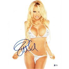 Pamela Anderson Sexy Bikini Signed 11x14 Photo Certified Authentic Beckett BAS COA