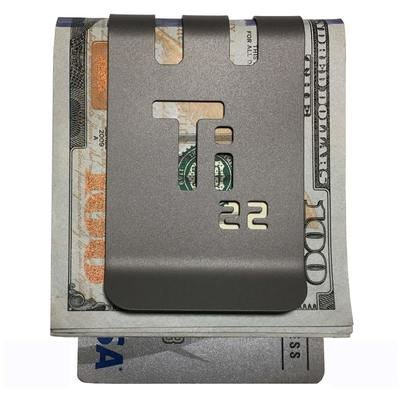 The T-30 Titanium Money Clip - NASA Optical Gray Finish