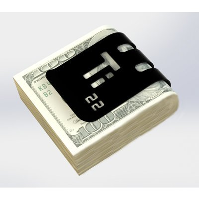 The T-100 Titanium Money Clip - Black Diamond Finish