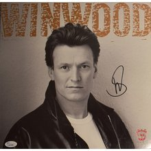 Steve Winwood Roll With It Signed Record Album LP Certified Authentic JSA COA