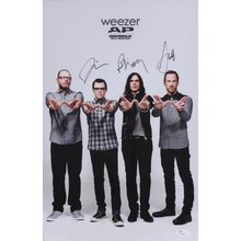 Weezer Band Signed 11x17 Poster Print Certified Authentic JSA COA