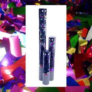 disposable confetti cannons with metallic confetti