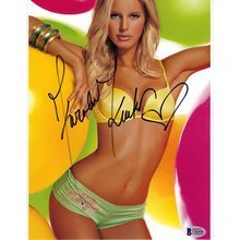 Karolina Kurkova Lingerie Victoria's Secret Signed 8x10 Photo Certified Authentic Beckett BAS COA