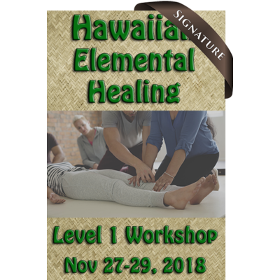 Hawaiian Elemental Healing Level 1 - Nov 27-29, 2018 (22 CE Hours)
