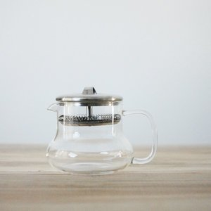 Glass Tea Pot w/ Stainless Steel Filter & Lid- 12 oz.