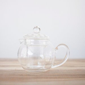 Spherical Glass Teapot w/ Glass infuser & Lid - 17oz
