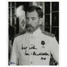Ian McKellen Rasputin Signed 8x10 Photo Certified Authentic Beckett BAS COA
