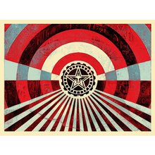"Obey Giant ""Tunnel Vision - Blue"" Signed Screen Print"