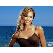 Jessica Alba Signed 11x14 Photo Certified Authentic Beckett BAS COA
