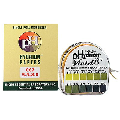 pH Test Paper for Urine & Saliva, 5.5-8 pH, 15 ft Roll