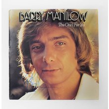 Barry Manilow Signed Record Album LP Certified Authentic JSA COA