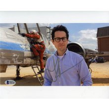 J.J. Abrams Star Wars The Force Awakens Signed 8x10 Photo Certified Authentic Beckett BAS COA