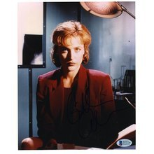 Gillian Anderson X-Files Signed 8x10 Photo Certified Authentic Beckett BAS COA