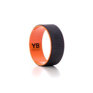 "Jumbo (15"") Yoga Wheel [YOGABODY Official] – The Wonder Wheel – DVD & Pose Chart Included, Orange/Black"