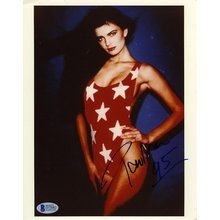 Paulina Porizkova Supermodel Signed 8x10 Photo Certified Authentic Beckett BAS COA