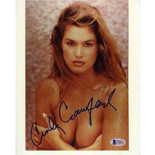 Cindy Crawford Topless Signed 8x10 Photo Certified Authentic Beckett BAS COA