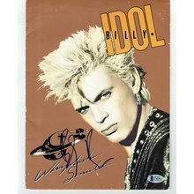 Billy Idol Whiplash Smile Signed Press Kit Certified Authentic Beckett BAS COA