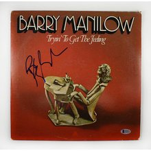 Barry Manilow Signed Record Album LP Certified Authentic beckett BAS COA