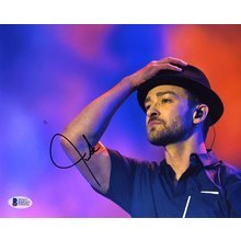 Justin Timberlake Live Signed 8x10 Photo Certified Authentic Beckett BAS COA