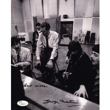 George Martin Beatles Producer Signed 8x10 Photo Certified Authentic JSA COA