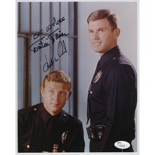 Adam 12 Cast McCord and Milner Signed 8x10 Photo Certified Authentic JSA COA
