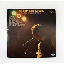 Jerry Lee Lewis Signed Record Album LP Certified Authentic Beckett BAS COA
