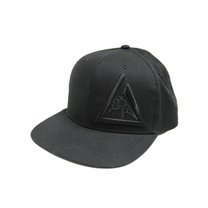 3-D Embroidered Snapback Hat (Black)