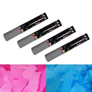 gender reveal confetti cannon kit with 4 cannons