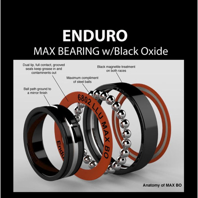 6801 MAX BEARING w/Black Oxide