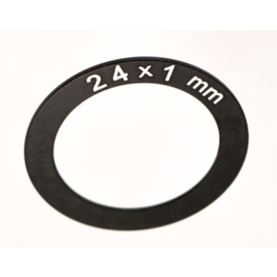 24MM ID X 1MM THICK SPINDLE SPACER, ALUM