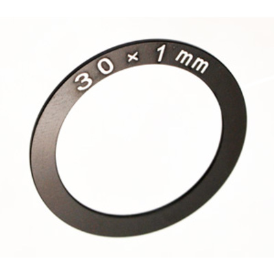 30MM ID X 1MM THICK SPINDLE SPACER, ALUM
