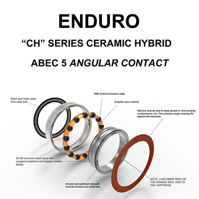 7804 ABEC 5 CERAMIC HYB ANGULAR CONTACT