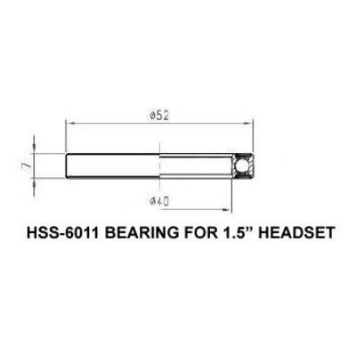 FSA LOWER 1.5 INCH STEEL 6808 45 DEGREE BEARING