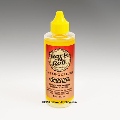 "GOLD ""LV"" CHAIN LUBE by Rock 'n' Roll"