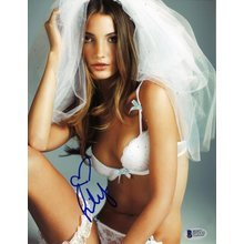 Lily Aldridge Victoria's Secret Signed 8x10 Photo Certified Authentic Beckett BAS COA