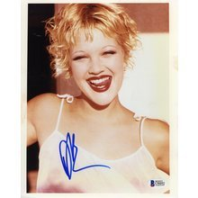 Drew Barrymore Sexy Signed 8x10 Photo Certified Authentic Beckett BAS COA