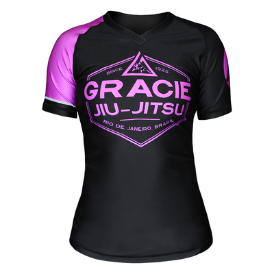 Gracie Pink Rank Short-Sleeve Rashguard (Women)