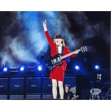 Angus Young AC/DC Live Signed 8x10 Photo Certified Authentic Beckett BAS COA