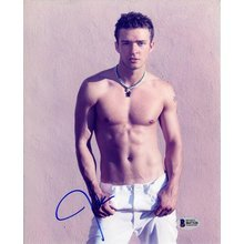 Justin Timberlake Shirtless Signed 8x10 Photo Certified Authentic Beckett BAS COA