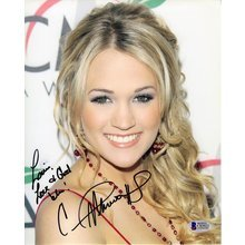 Carrie Underwood Signed 8x10 Photo Certified Authentic Beckett BAS COA