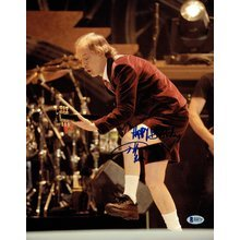 Angus Young Live AC/DC Signed 11x14 Photo Certified Authentic Beckett BAS COA